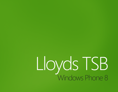 Lloyds TSB Windows Phone 8 Concept Design