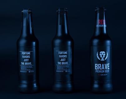 Brave: Premium Beer.