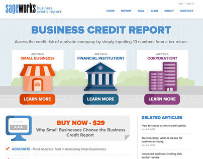 Sageworks Business Credit Report