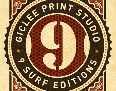 9 Surf Editions, print studio branding and marketing