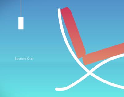 Chairs animation - Ludwig Mies van der Rohe