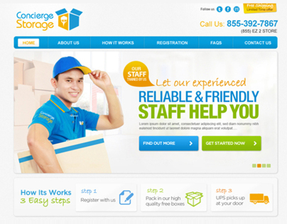 Concierge Storage Website Design