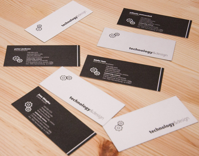 Technology & Design Business Cards