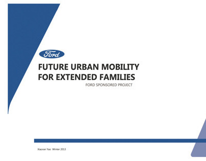 Future Urban Mobility  (Ford Sponsor Project)