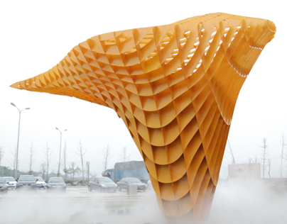 WRITING-- BAMs Ballistic Cloud on designboom.com