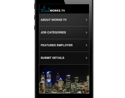 WORKS.TV - Mobile Site Wireframe Design