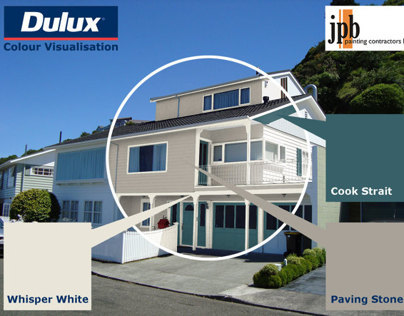 Photoshop Visualisation of Dulux Colour Schemes