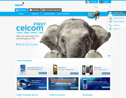 Celcom Corporate Website