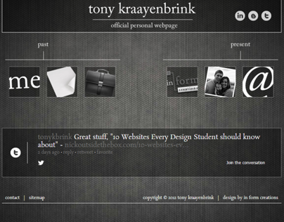 Personal Portfolio Website | Tony Kraayenbrink