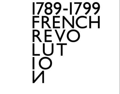 French Revolution Typographic Poster