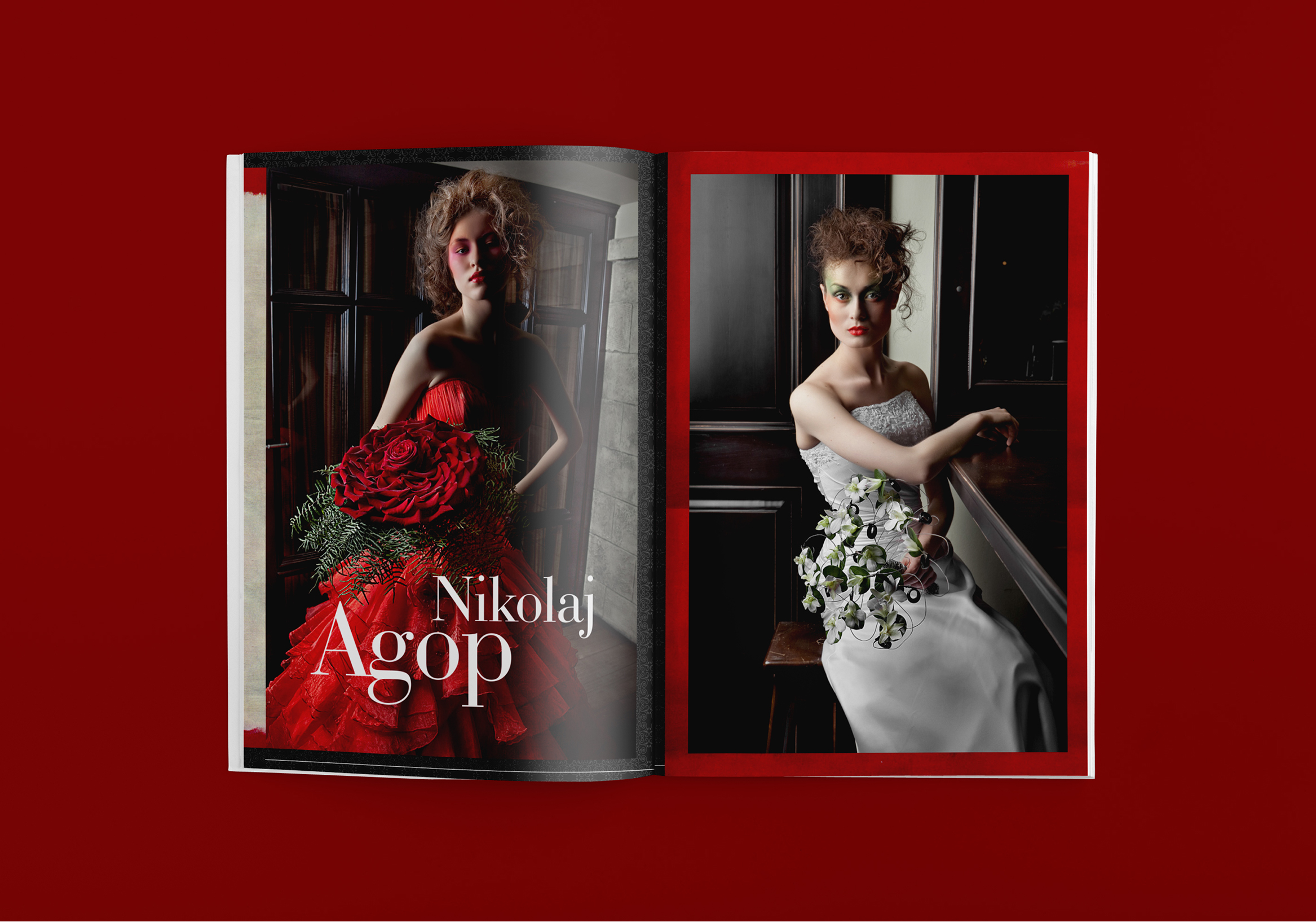 Luxury & art magazine layout