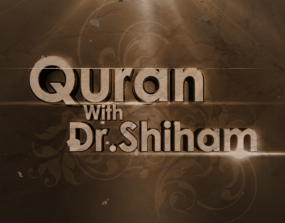 Quran With Dr.Shiham Promo