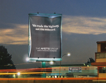 The Aveng Group - This highway billboard