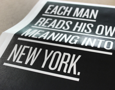Each man reads his own meaning into New York