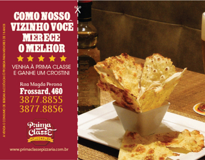 Prima Classe Pizzaria - Flyer