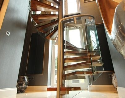 St. Johns Wood Park Custom Curved Staircase