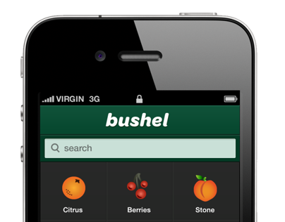 Bushel Fruit and Vegetable Encyclopedia App