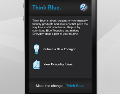Volkswagen Think Blue - Mobile App
