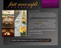 Newsletter design | fait accompli events