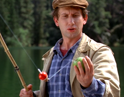 Fishing apples