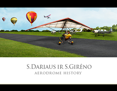 Kaunas Aerodrome History - website design