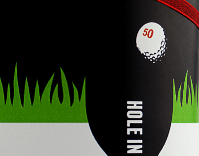 Hole in one red wine, costumer promotion.