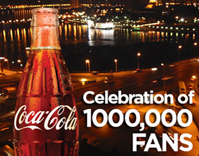 Cocacola Egypt One Million Fans on Facebook