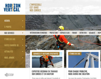 Web Design Horizon Vertical