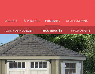 Web Design for Shed builder Cie