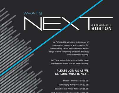 Whats NEXT Lecture / Workshop Series