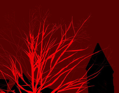 red winter tree