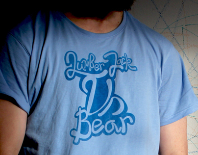 Lumber jack vs Bear T-shirt