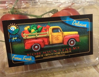 Hobe Sound Farms package design
