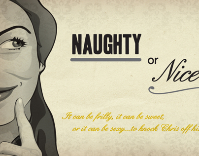 Naughty or Nice Lingerie Shower Invites