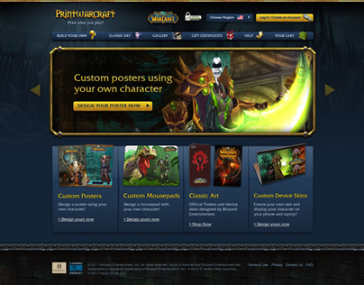 PrintWarcraft - Design of a custom goods store for WoW