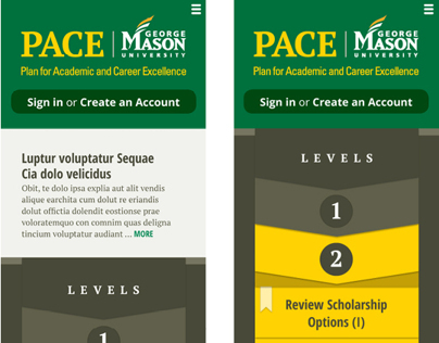 George Mason PACE Mobile Web Design (Proposed) 2012