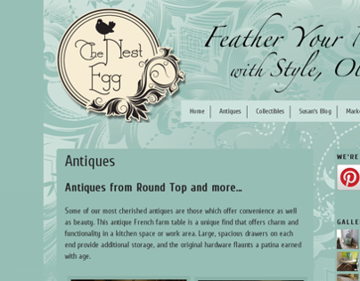 The Nest Egg Antiques Website (2010)