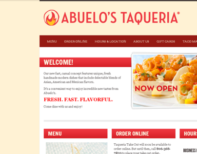 Abuelo's Taqueria Website (2012)