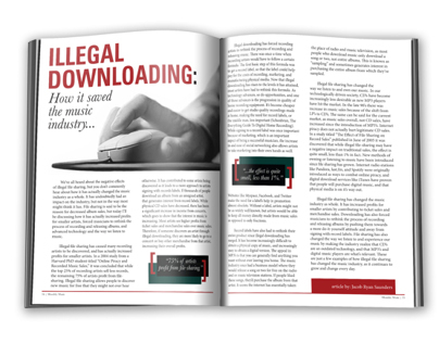 ILLEGAL DOWNLOADING EDITORIAL SPREAD
