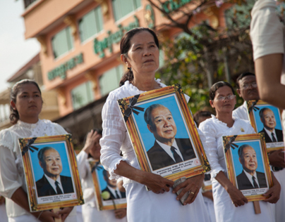 King Sihanouk Funeral Procession