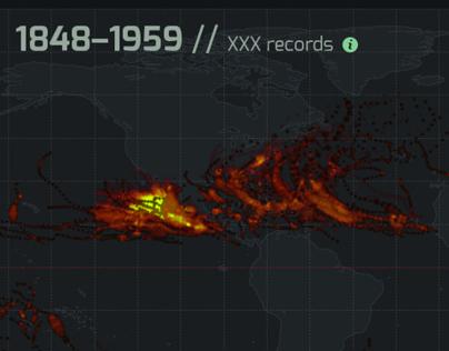 Hurricane history data visualization