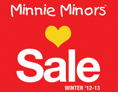 Minnie Minors Love Sale Winter 12 Campaign