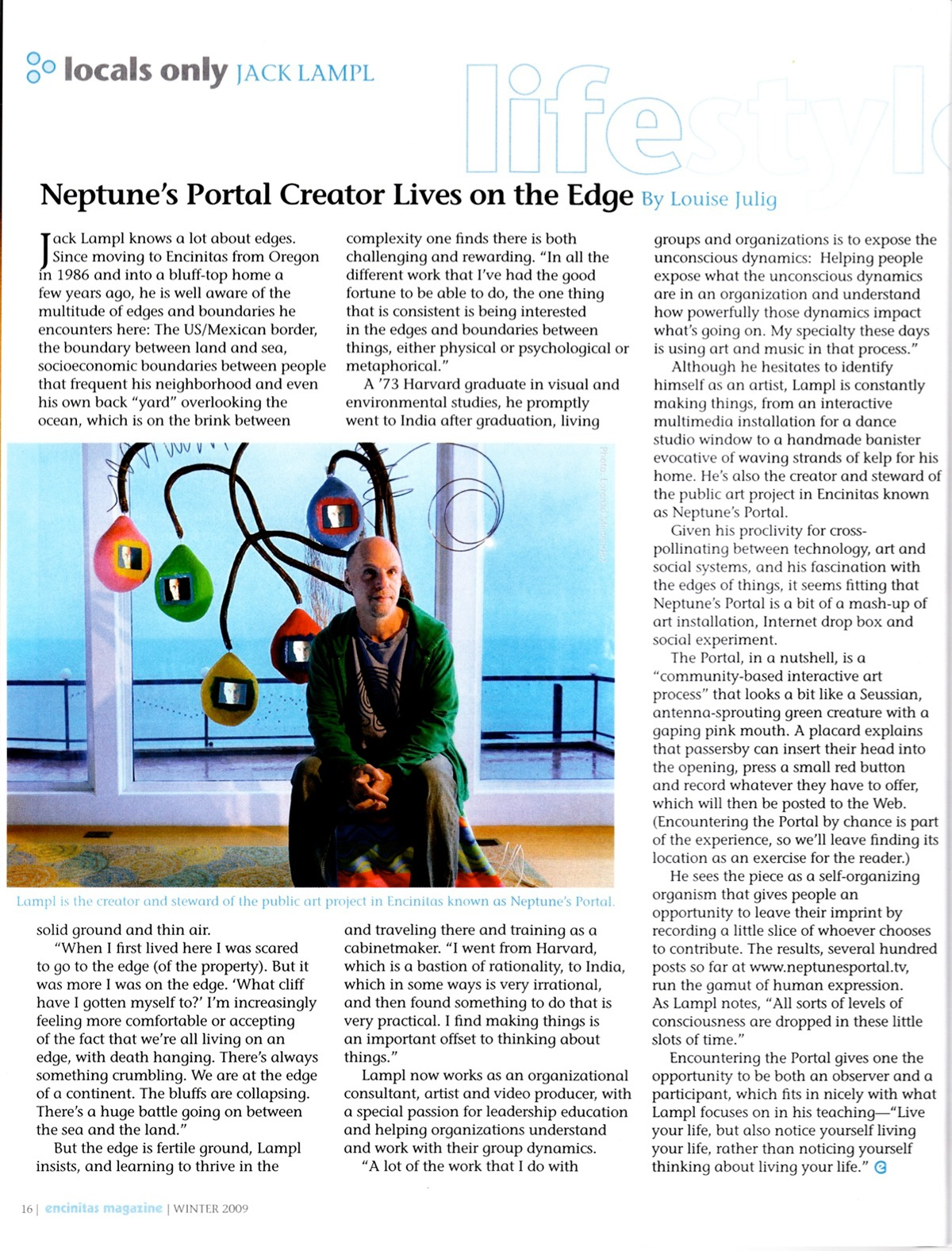 Encinitas Magazine: Local Artist Lives on the Edge