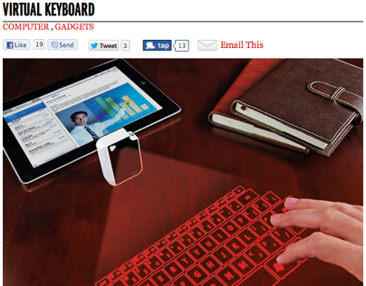 TRAVEL GADGET: VIRTUAL KEYBOARD