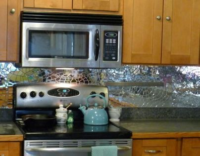 Mirror Mosaic Backsplash