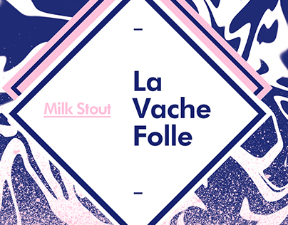 La Vache Folle - Milk Stout packaging