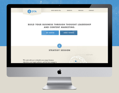 DTA, Website Redesign