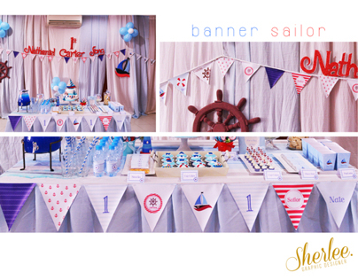 Party Design. 1st Birthday Sailor Theme.