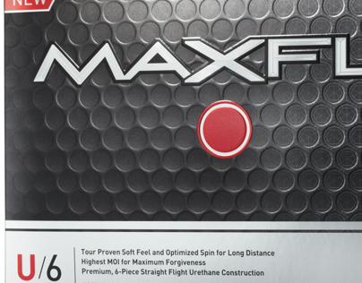 Maxfli U6 Golf Ball Packaging