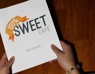 100% Sweet Cafe Rebrand Guidelines